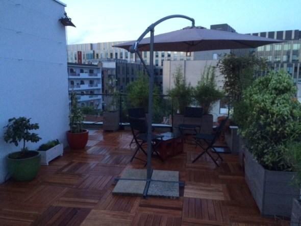 les jardiniers à vélo paris ile de france aménagement entretien terrasse jardin villejuif caillebotis plantation