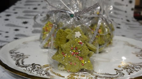 mini sapins biscuits au thé matcha