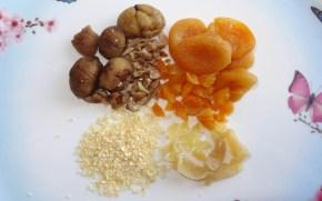 marrons abricots secs oignons déshydratés gingembre confit