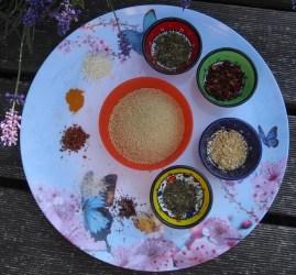 ingrédients pour kit futé gourmand taboulé à la menthe et au citron