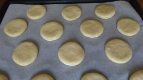 disques de pâte avant la 2ème levée