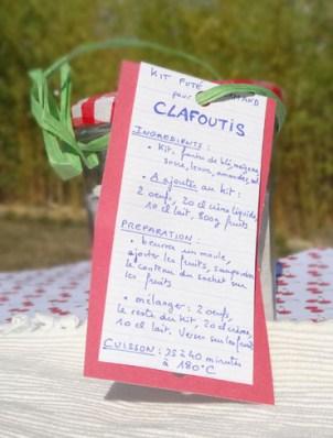 étiquette du kit futé gourmand pour clafoutis