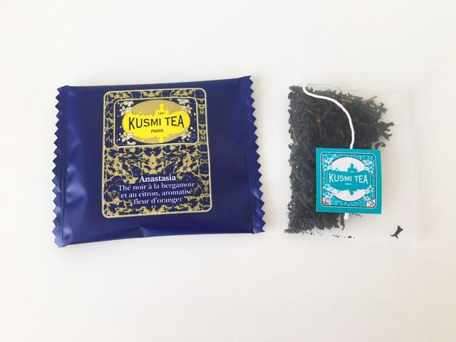 クスミティー,アナスタシア,ティーバッグのパッケージと中身,KUSMI TEA,Anastasia,