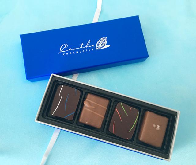 セントー セレクション 4,セントーの4粒入のチョコレート,セレクションBOX,4個入,バレンタイン, Centho,chocolate,Valentine,Bonbon de chocolat,