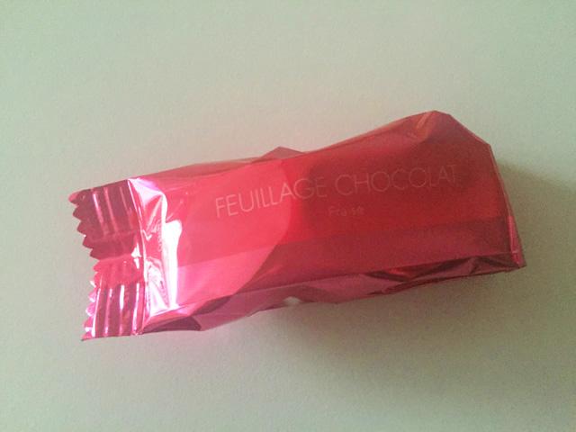 FEUILLAGE CHOCOLAT(ファヤージュショコラ),個包装されている様子