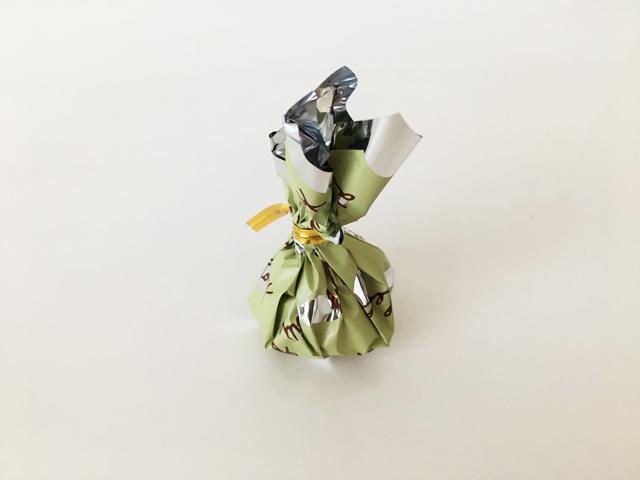 リーフメモリー,グリーンの巾着,モンロワール,葉っぱのチョコ,