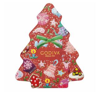 ゴディバ,クリスマス,2020,グリッター クリスマス,ツリー セレクション,10粒入,税込4,320円,GODIVA,ホリデー コレクション,