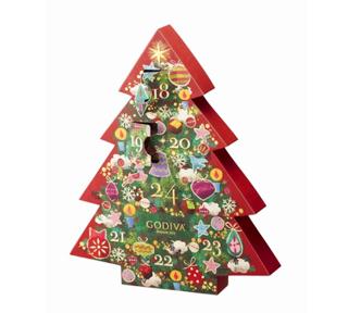 ゴディバ,7daysカウントダウンカレンダークリスマス,2020,グリッター クリスマス,7daysカウントダウンカレンダー, 7粒入,税込3,024円,GODIVA,