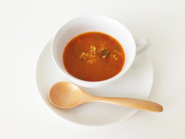 MCC,完熟トマトと6種野菜のスープ,スーパー大麦入りスープ,