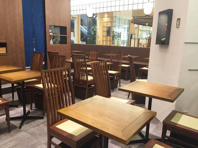 春水堂,チュンスイタン,グランフロント大阪B1,店内テーブル席