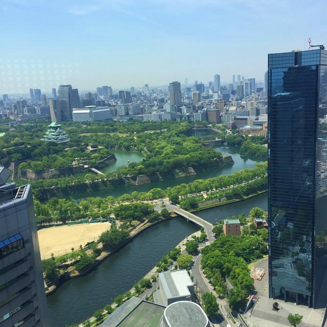 燦 OBPツインタワー店,38Fの窓からの眺め,大阪城が見える