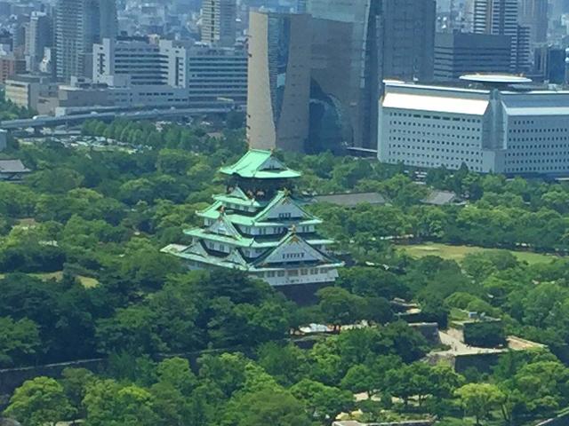 燦 OBPツインタワー店,8Fの窓からの眺め,大阪城が見える