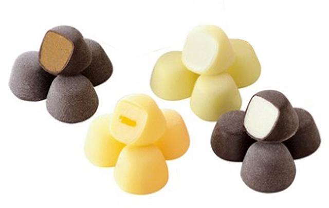 モロゾフ,アイス,アイスギフト,グラスオショコラ,バニラ、ヨーグルト風味、、瀬戸内レモン、チョコレートの4種類のひとくちサイズのアイスクリーム,ice cream,