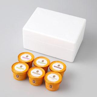 マリオジェラテリア,MarioGelateria,ミックスジェラート6個セット,発泡スチロールのBOX,