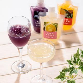 フルーツ アンシャンテ,飲むジュレ「おかやまフルーツ」セット,Fruits Enchante,