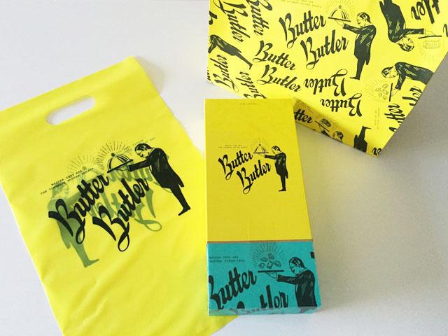 バターバトラー,阪急梅田本店,紙袋と8個入りのバターフィナンシェとお配り用袋
