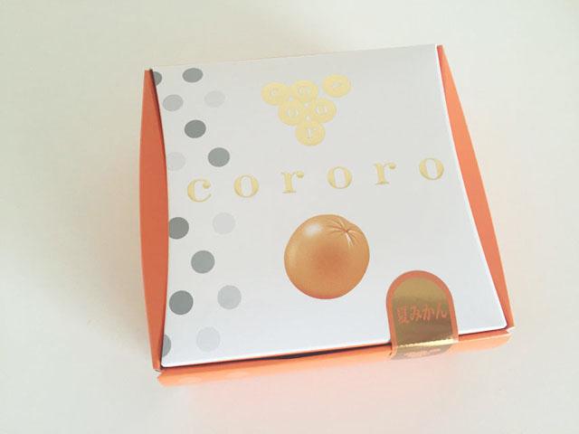 コロロ,夏みかん,オレンジ色の外箱