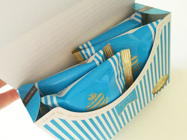 グランカルビ,ポテトビート,はちみつ&マスカルポーネ味,内装小分け袋が4袋入っている