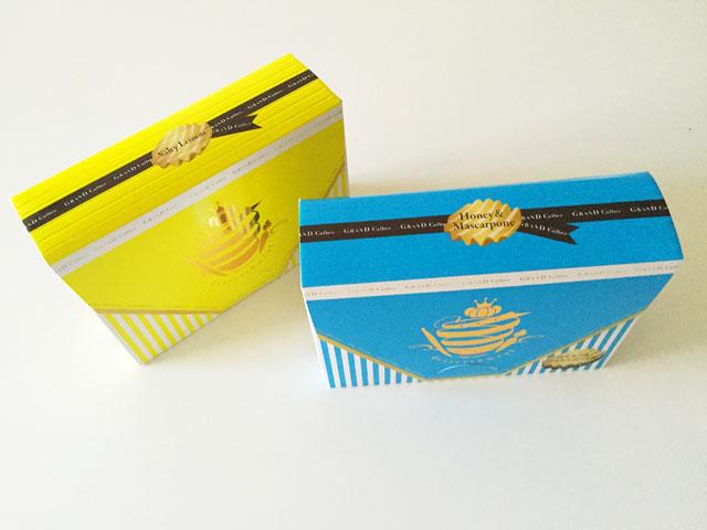 グランカルビ,ポテトビート,ニューフレーバー,シチリアの塩とレモン味,はちみつ&マスカルポーネ味,外装箱を上から撮影