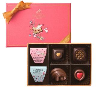 ゴディバ,バレンタイン,2020,チョコレート クロニクル スウィート アソートメント,6粒入り,