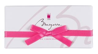 ブリュイエール,ブリュイエール セレクション 2の箱,白い箱にピンクのリボン,箱寸=4.8×9.8×3.3cm,バレンタイン,2021,チョコレート,BRUYERRE,Valentine,chocolate,