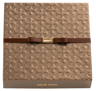 クラブハリエ,バレンタイン,ハートブラウニーの箱