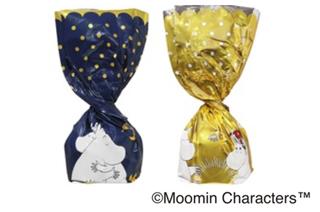 ムーミン × メリーチョコレート,パフチョコレート,ゴールドとネイビーの2種類の包装で包まれたパフチョコレート,ムーミンのチョコ,Mary's,バレンタイン,2021,チョコレート,Valentine,chocolate,