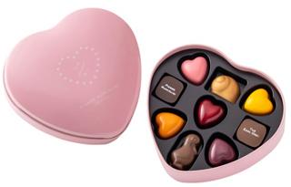 ピエールマルコリーニ,バレンタイン セレクション 9個入の中身とフタ,税込3,672円,バレンタイン,2021,チョコレート,PIERRE MARCOLIN,Valentine,chocolate,