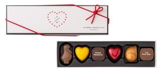 ピエールマルコリーニ,バレンタイン セレクション 6個入,税込2,268円,白箱,バレンタイン,2021,チョコレート,PIERRE MARCOLIN,Valentine,chocolate,