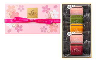 GODIVA,サブレショコラ桜(5個入),ホワイトデ―,2019