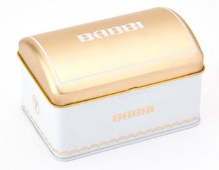 バビ,BABBI,トレジャーボックス,本体価格2500円,宝箱型の缶パッケージ,箱寸=7.3×12×8.2cm,ホワイトデー,2021,Whiteday