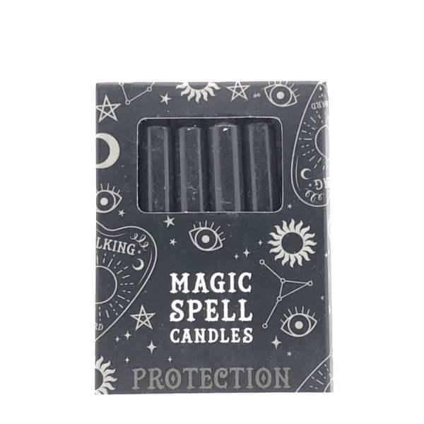 "bougies noires ""Magic Spell"" de protection"