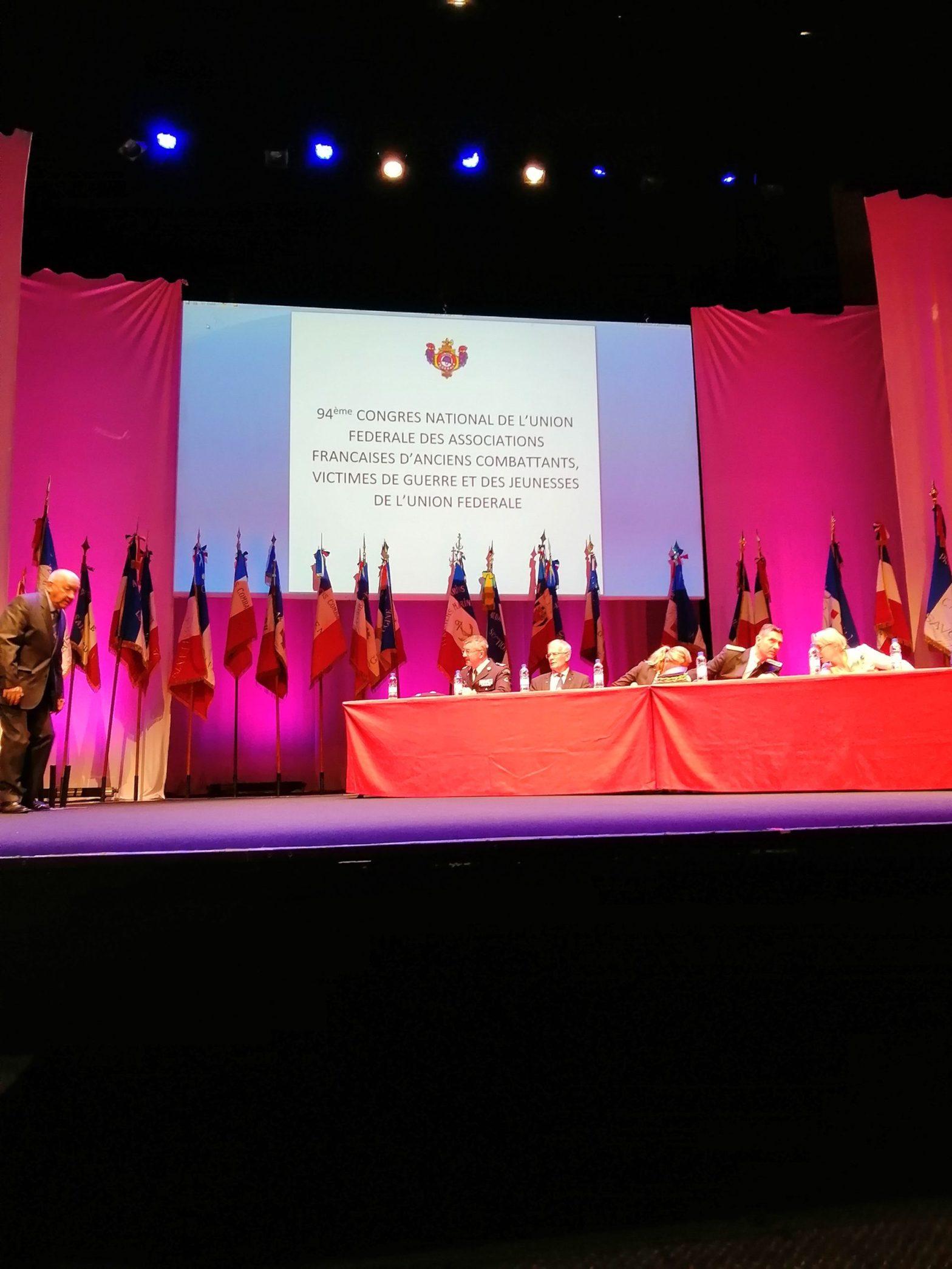 94 ème congrès Anciens Combattants Aix les Bains interprétariat italien-français pour délégation italienne associazione militari in congedo