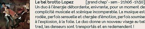 Bal folk Brotto Lopez