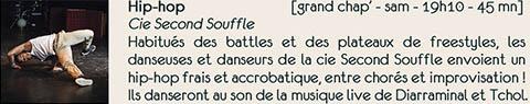 danse Hip Hop compagnie Second Souffle