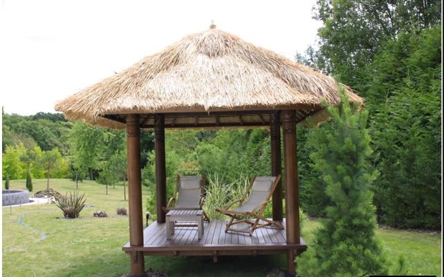 paillote gazebo de jardin en cocotier sur commande delai 12 a 16 semaines environ