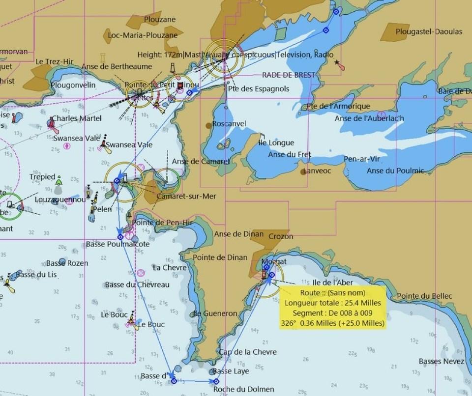 navigation De Brest à Morgat