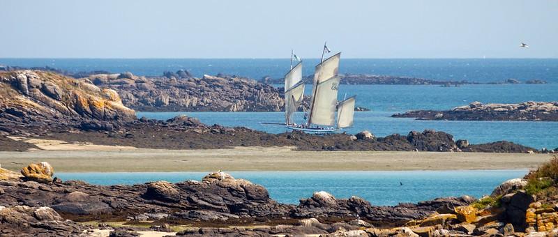 voilier de Saint-Malo à Chausey