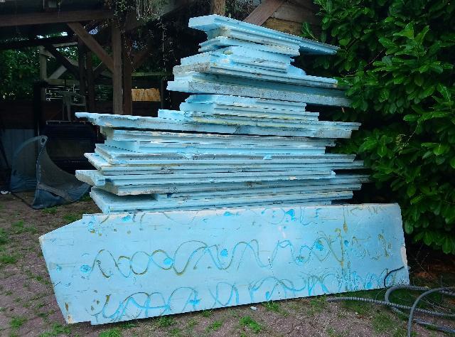 tas de polystyrène