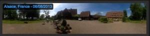 le panorama 360° de ma fille.