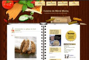 le blog publie seulement les recettes demandées suite au partage des images dans les médias sociaux