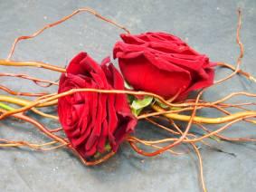 Des roses entrelacées