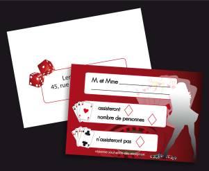 Carton réponse et son enveloppe