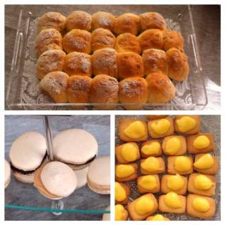 "brioche ""butchy, macarons, petits sablés crème citron"