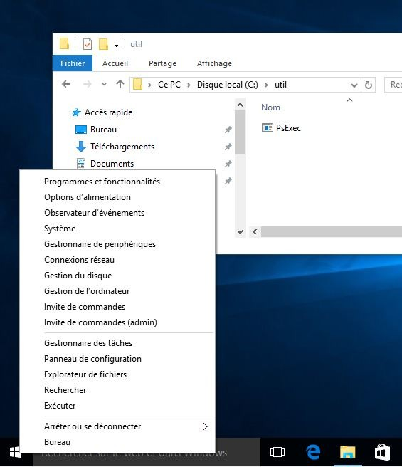 Windows 10 – Lancer un CMD en Compte System – Les2T
