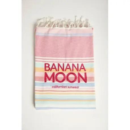 Serviette De Plage Banana Moon Swany Marbella Rose Les4nages