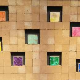 Tableau modulable briques pigmentées - Les adobes