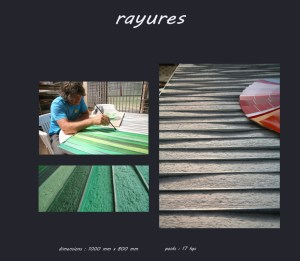 Tableau rayures - Les adobes
