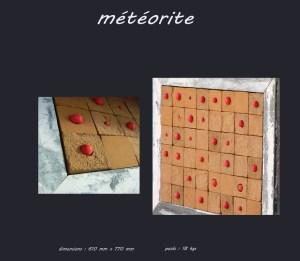 Tableau météorite - Les adobes