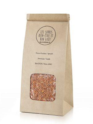 Nos semences de Cresson biologiques et sans OGM, vous pouvez maintenant vous les procurer en plusieurs formats et faire vos pousses à la maison.